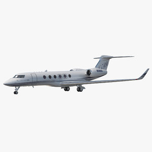 business jet gulfstream g500 3d model