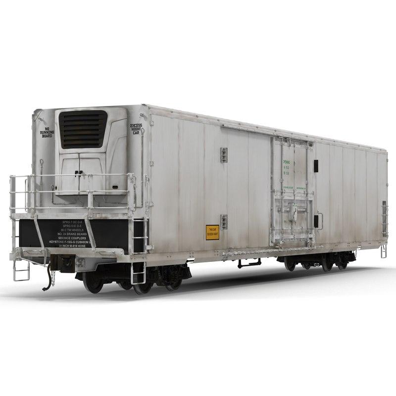 railroad refrigerator car generic 3d max