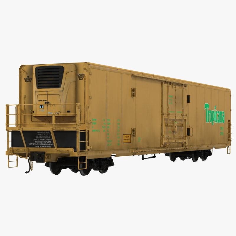 max railroad refrigerator car yellow