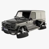 3d model mercedes-benz g65 amg transforming