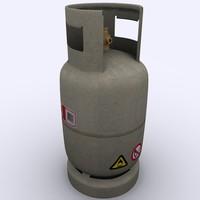 3d model gas cylinder