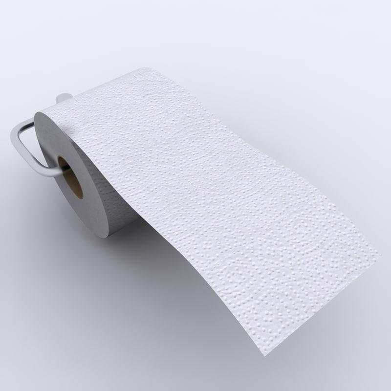 toilet tissue paper 01 3ds