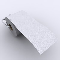 toilet tissue paper 01 3ds