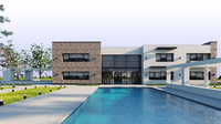 house residence pool 3d 3ds
