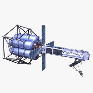 3d futuristic satellite sci fi model