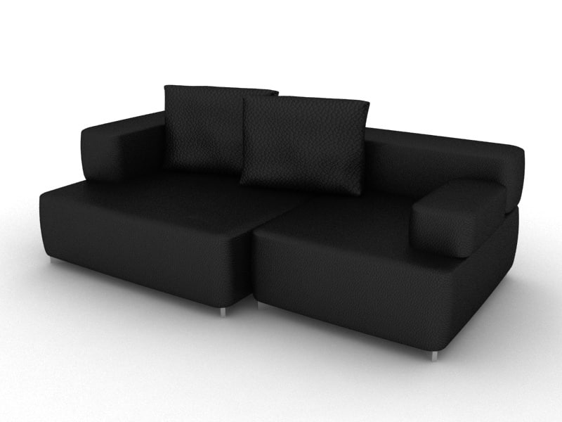 alphabet sofa 3d model