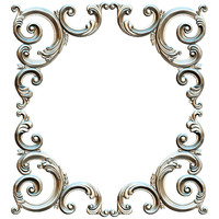 Angular decor. Decor frame