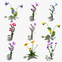 16 Low-Poly Flowers (+ Icons)