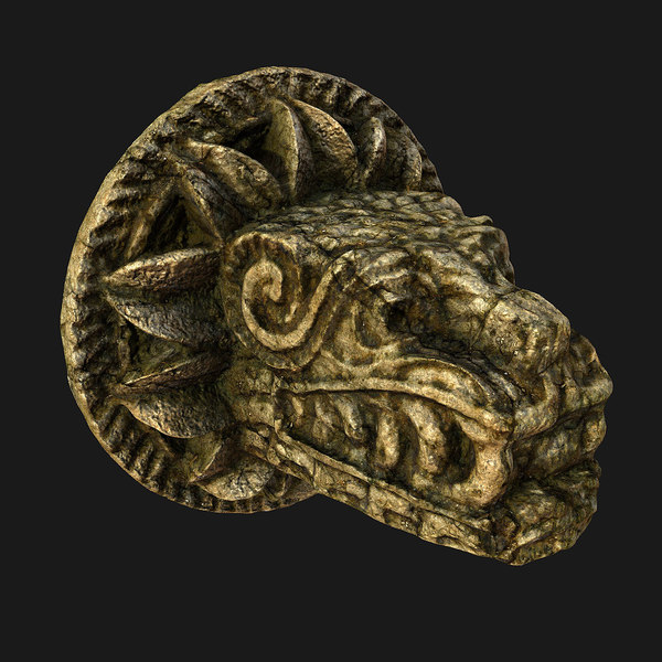 quetzalcoatl mayan aztec dragon 3d model