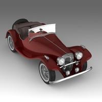 retrocar cars 3d fbx