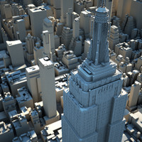 3d midtown manhattan buildings