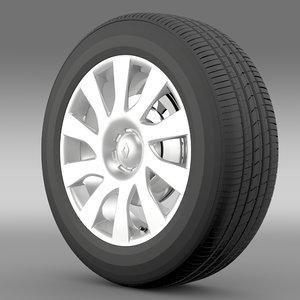 renault trafic van wheel 3d model