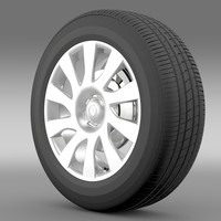 3d model vauxhall vivaro van wheel