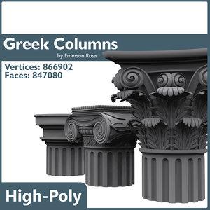 3d model of greek doric