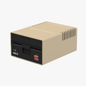 3d model apple disk ii