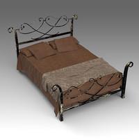 3d model classic bed