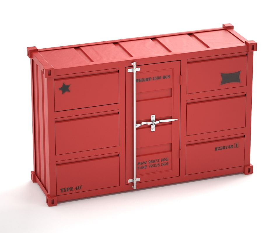 3d model of sea container commode