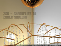 chandelier silver gold max
