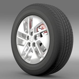 vauxhall vivaro wheel 2015 3d max