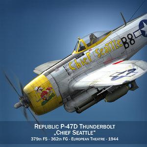 3d republic p-47 thunderbolt - model