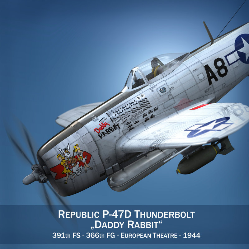 republic p-47 thunderbolt - fbx