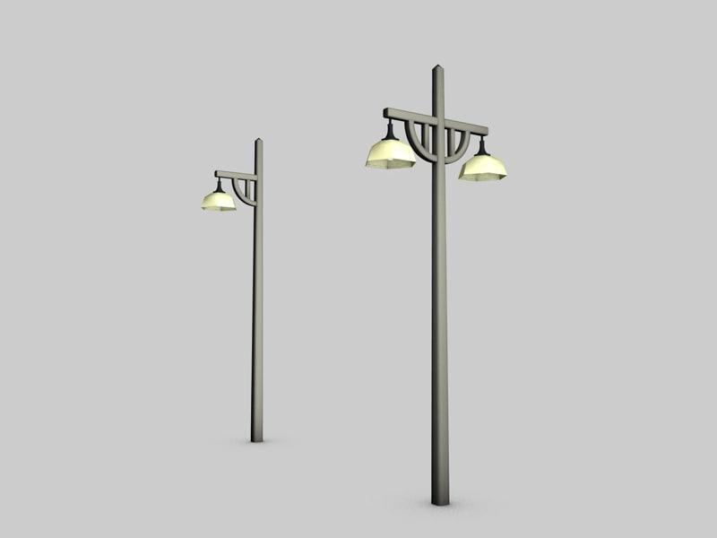 3d lamp art deco railway