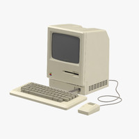 3d apple macintosh 128k model