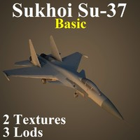 3d model sukhoi basic fighter