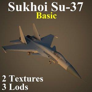 3d model sukhoi basic fighter