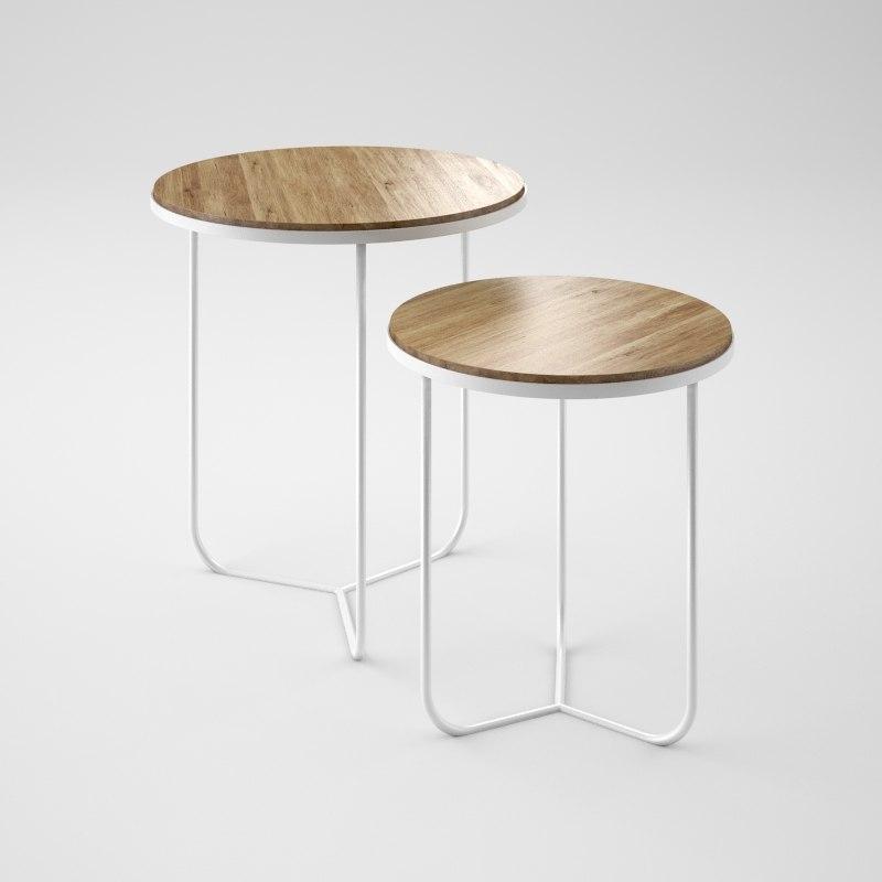 3dsmax minimalistic tables oak wood