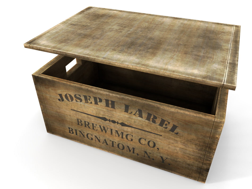 wooden crate 3d max