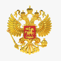 3d model national emblem russia