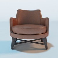 guscio leather armchair 3d c4d
