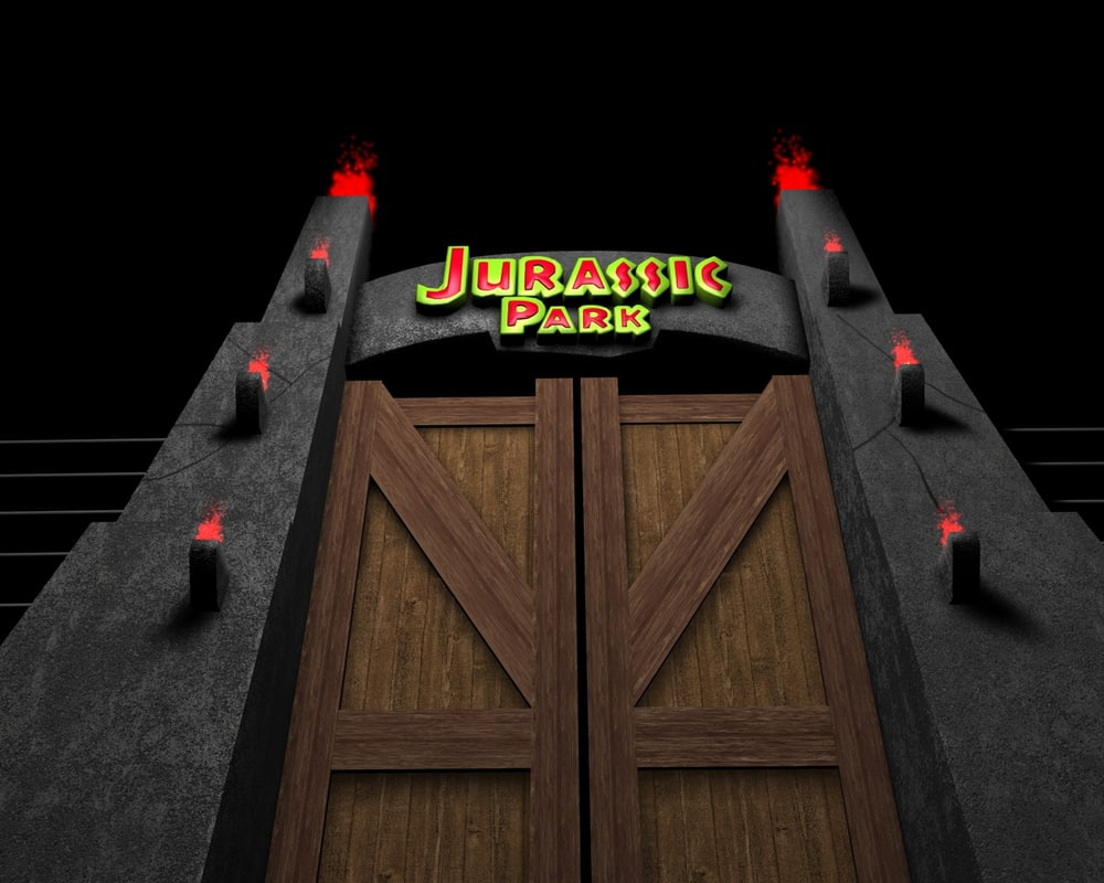 3ds max jurassic park gate