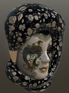 mask venetian obj