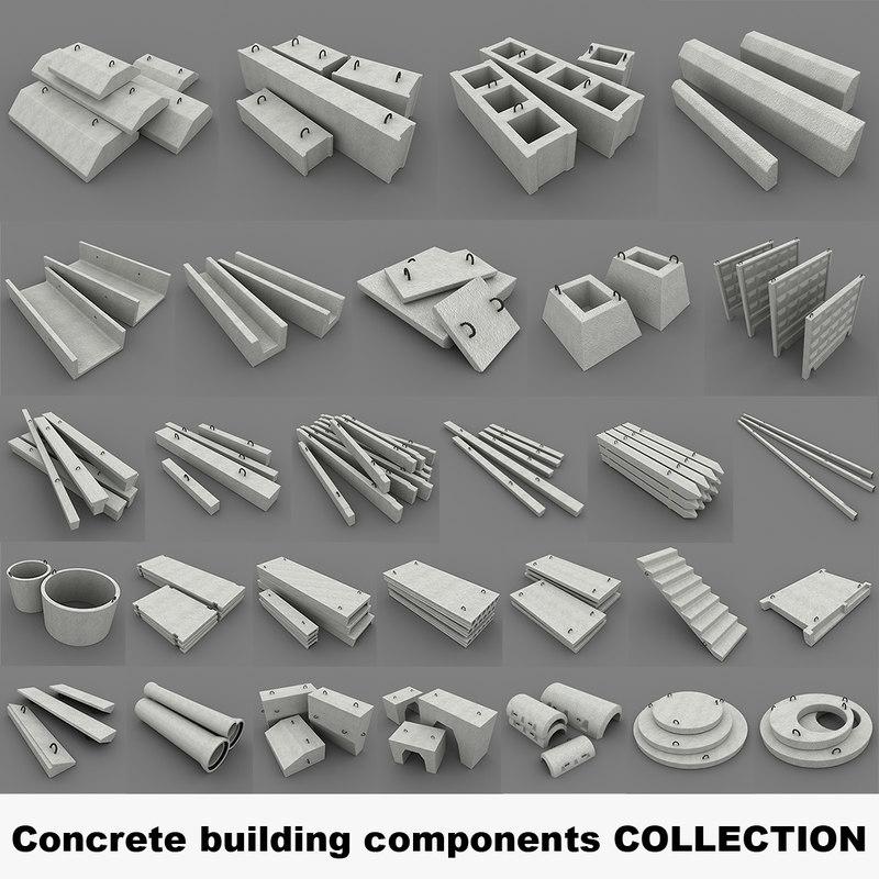3d concrete building components