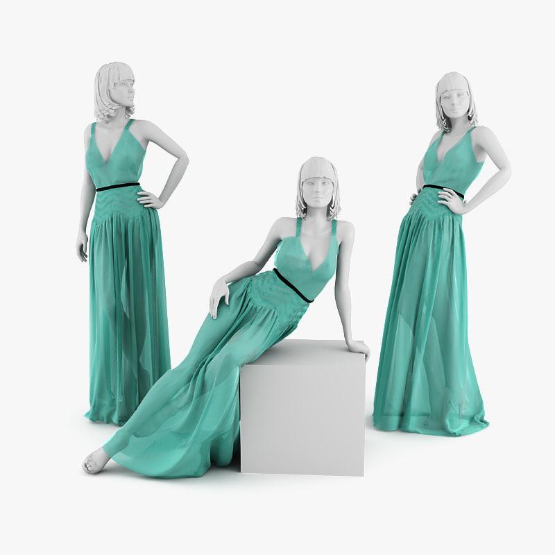 dress mannequin christian 3d model