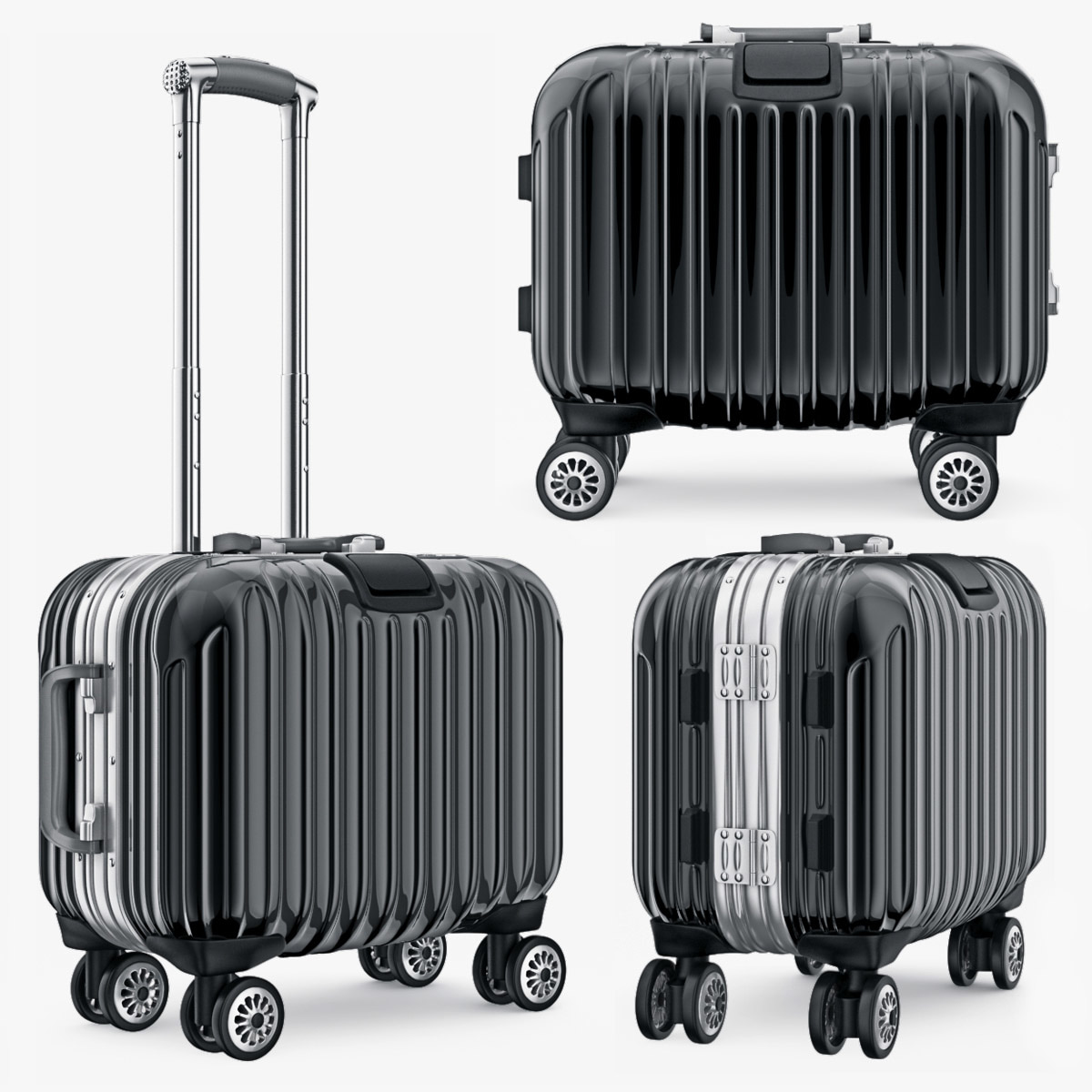 suitcase travel kingtrip small 3d model