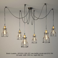 lamps lussole loft 3d model