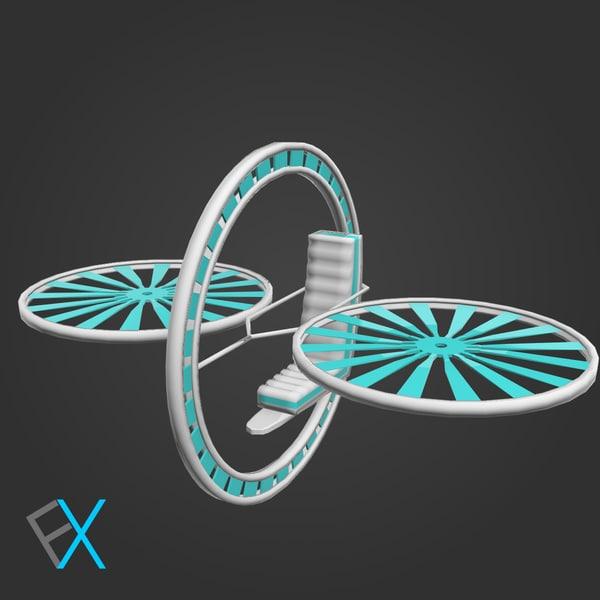 future flying machine obj