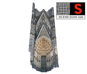 gothic architecture cathedral scanned obj