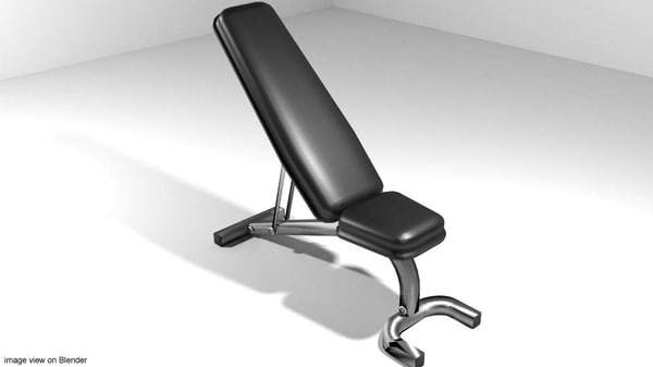 3ds max exercise press bench