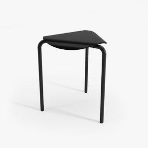 free lukki stool 3d model