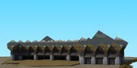 3d kubuswoning rotterdam model