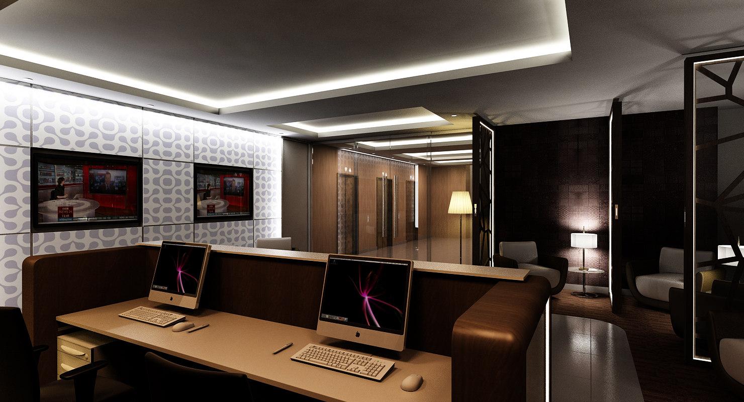 interior office scene max