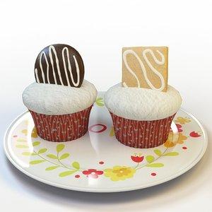 3d cupcake cake model