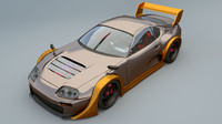 3d model toyota supra racing