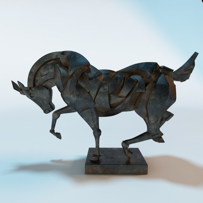 3ds max sculpture horse
