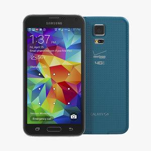 3d model samsung galaxy s5 blue