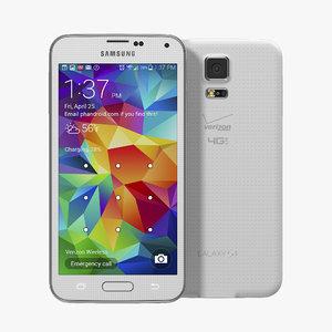 3d samsung galaxy s5 white